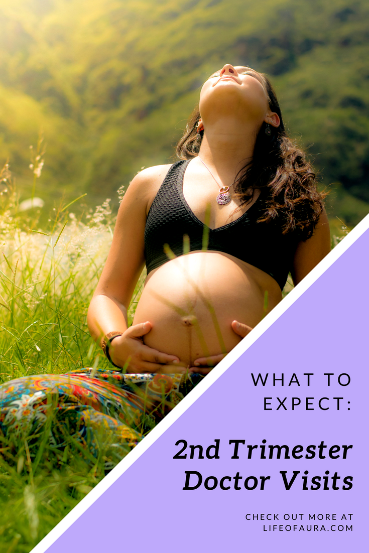 Getting through the first trimester is wonderful, but now it's time for more doctor visits. Check out more at lifeofaura.com. #lifeofaura #2ndtrimester #pregnancy #doctorvisits