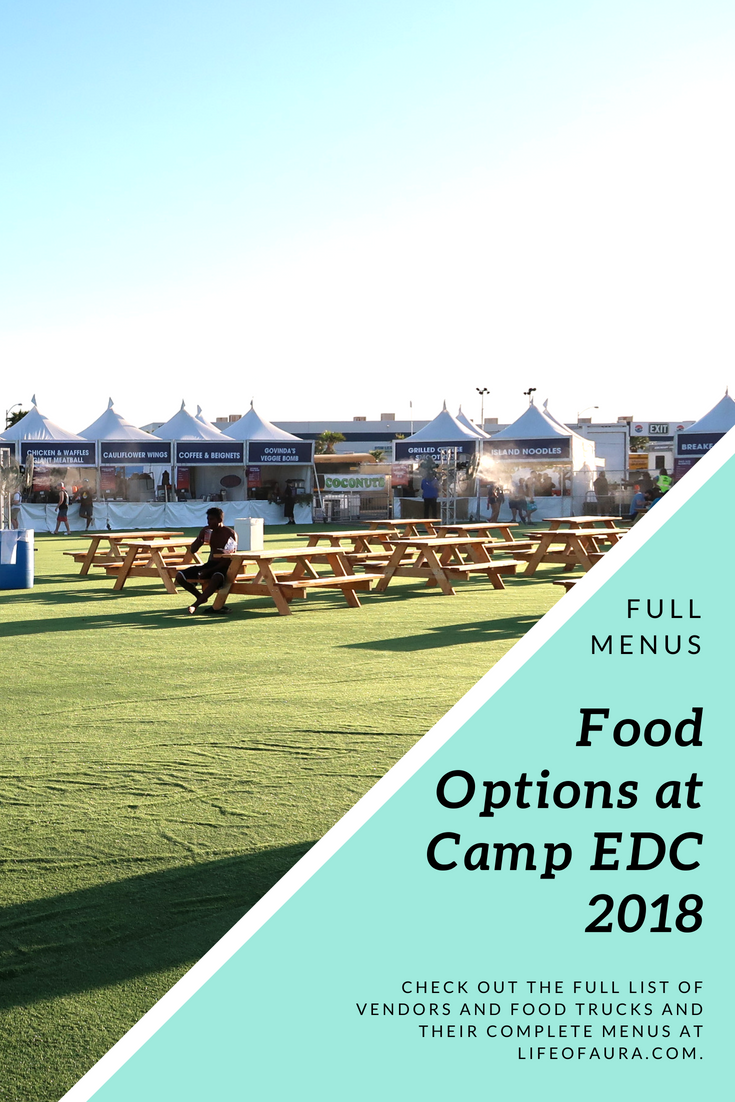 Camp EDC had a lot of food options. They even had Vegetarian and Vegan options. #CampEDC #Vegan #Vegetarian #CampFood