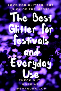 Is glitter too hard to put on? Does it get all over the place? Then check out what Moon Shatter glitter is all about on lifeofaura.com. #glitter #review #moonshatter #rave #festivalseason #edm