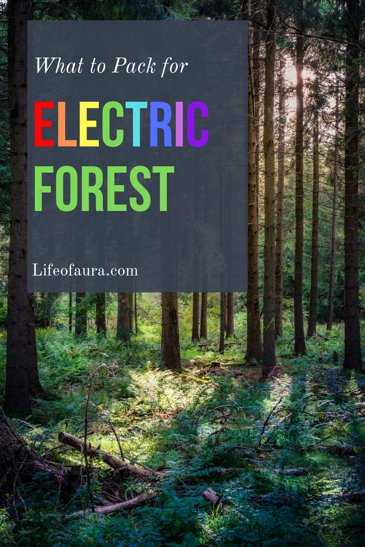 Electric Forest is soon to arrive and who wouldn't love those amazing lit up trees in the forest? Just make sure you pack everything you will need! #festivalseason #rave #festival #michigan