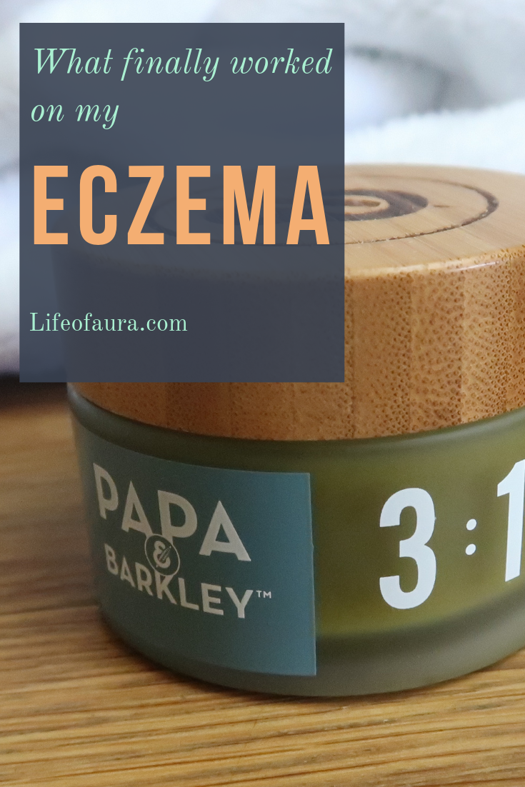 Best relief ever for eczema. I works on many types of pain, not just eczema. Use it for arthritis, back pain, and many more. #eczema #eczemarelief #painrelief #lifeofaura