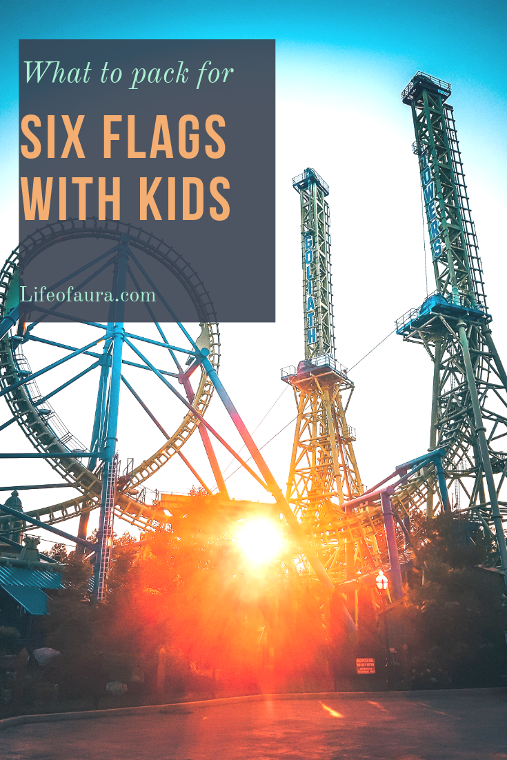 Family trips are amazing, but when you go to a theme park like Six Flags there is a little more packing involved for little ones. Be prepared so you can have fun. #sixflags #packinglist #children